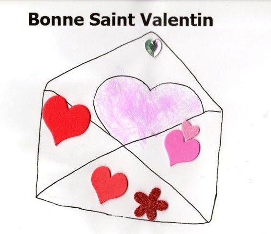 Activit manuelle lettre de saint valentin colorier - Parole saint valentin ...