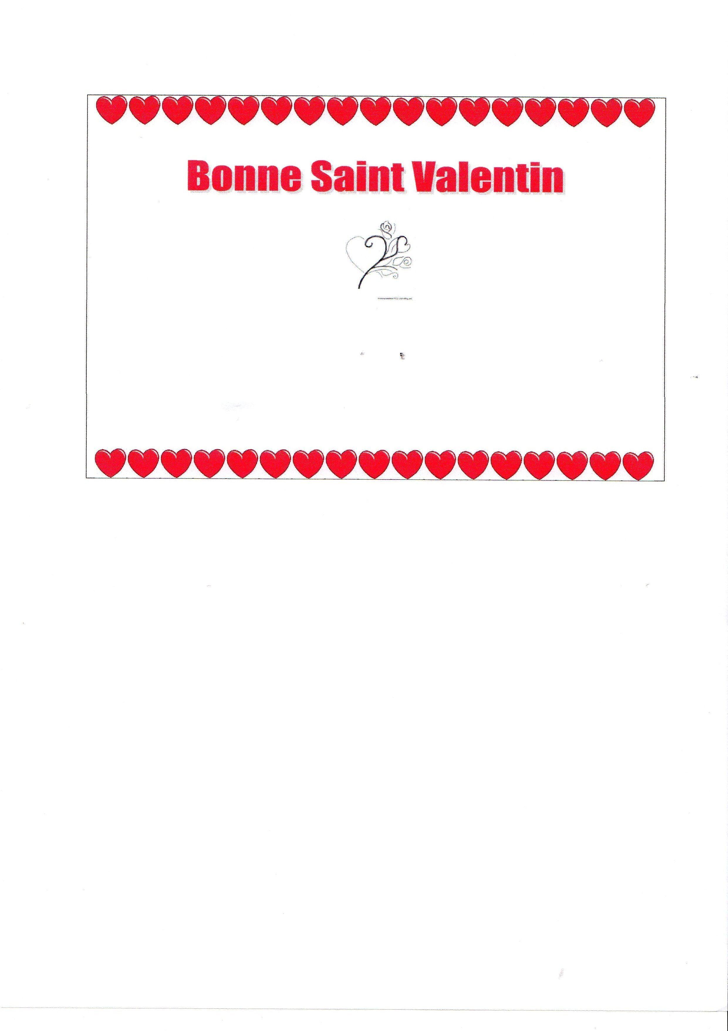 Activit manuelle carte de saint valentin - Activite manuelle st valentin ...